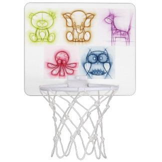 Animal Colors Mini Basketball Backboard
