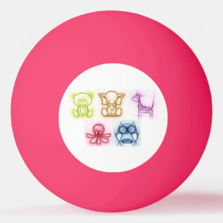 Animal Colors Ping Pong Ball