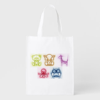 Animal Colors Reusable Grocery Bag