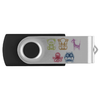 Animal Colors Swivel USB 2.0 Flash Drive