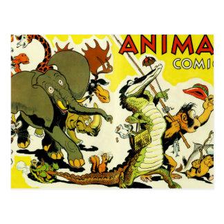 Animal Comics Postcard