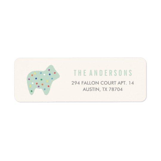 Animal Cookie Address Label - Mint