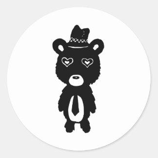 Animal Costume Round Sticker