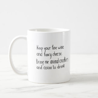 Animal Crackers and Cocoa to Drink Poem Quote Mug