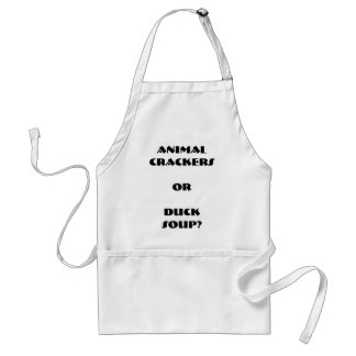 """Animal Crackers or Duck Soup?"" Apron"