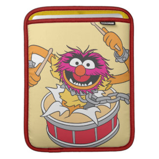 Animal Crashing Through Drums iPad Sleeve