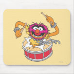 Animal Crashing Through Drums Mouse Pad