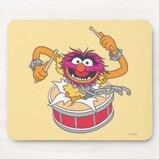 Animal Crashing Through Drums Mouse Pad