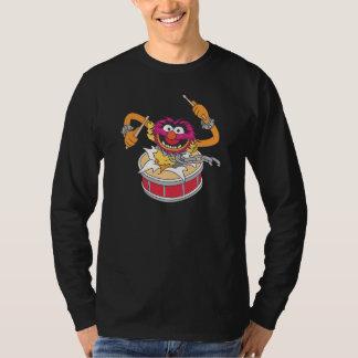 Animal Crashing Through Drums T-shirts