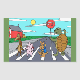 Animal Crosswalk Sticker
