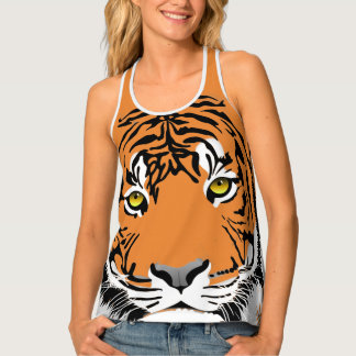 Animal Design Tiger Print Tank Top