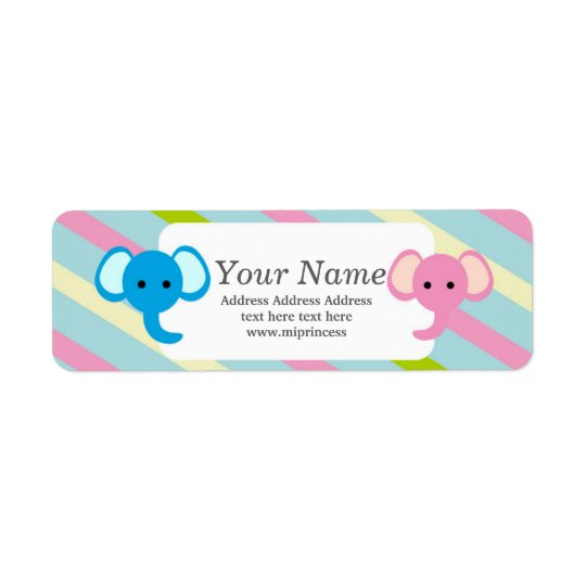animal elephant  return address stickers