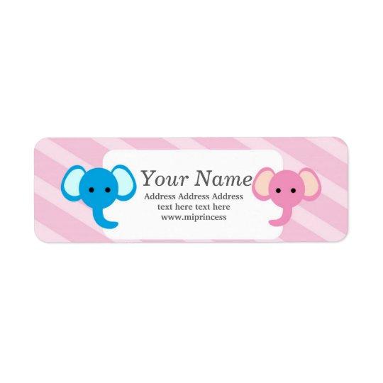 animal elephant  return address stickers