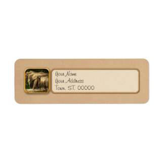 Animal - Elephant - Tight knit family Return Address Label