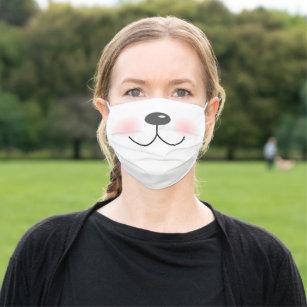 Animal Face Fun Funny Cute Cartoon Cloth Face Mask