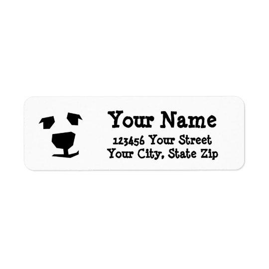 Animal Face Polar Bear, Dog Return Address Label