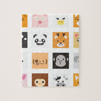 Animal Faces Jigsaw Puzzle