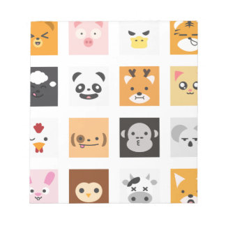 Animal Faces Notepad