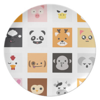 Animal Faces Plate