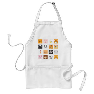 Animal Faces Standard Apron