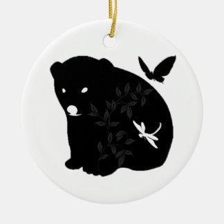 animal family ceramic ornament