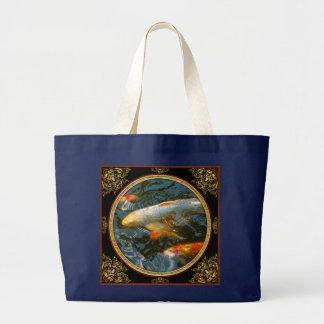 Animal - Fish - Bestow good fortune Large Tote Bag