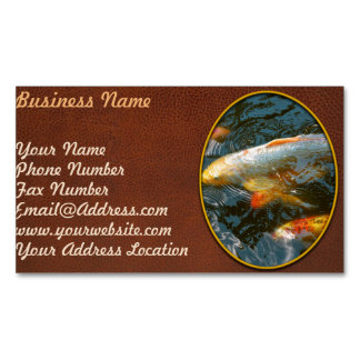 Animal - Fish - Bestow good fortune Magnetic Business Card