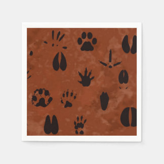 Animal Footprint Napkins Paper Napkin