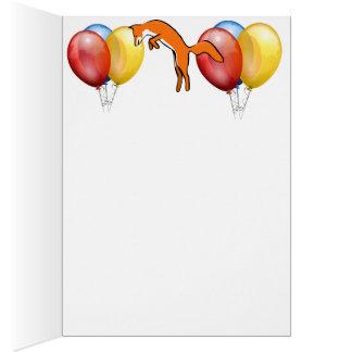 Animal Fox Forest Office Party Shower Digital Art Card