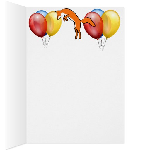 Animal Fox Forest Office Party Shower Digital Art Greeting Cards