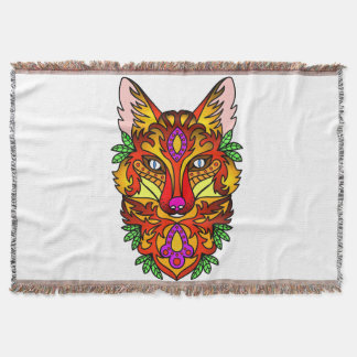 Animal Fox Throw Blanket