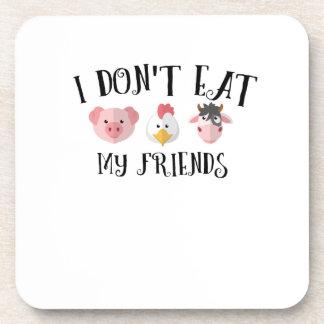 Animal Friends Vegan Vegetarian Vegetable Gifts Coaster