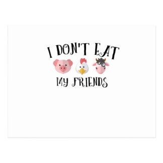Animal Friends Vegan Vegetarian Vegetable Gifts Postcard