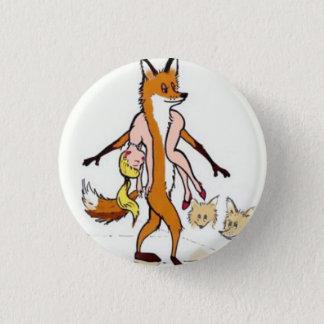 animal fur 1 inch round button