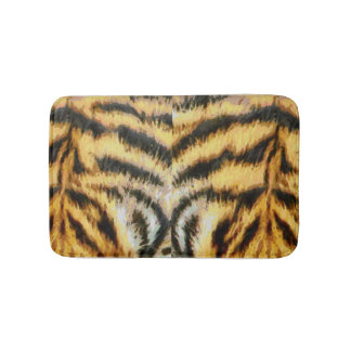 Animal Fur Texture Tiger Print Mammal Wild Themed Bath Mat