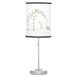 Animal Giraffe - Brown and White Table Lamp