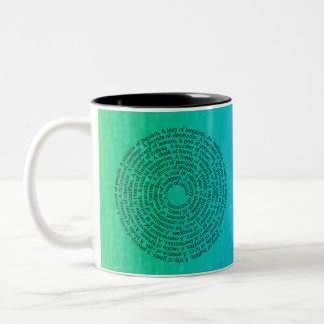 Animal Group Names Peaceful Coexistence Ombre Mug