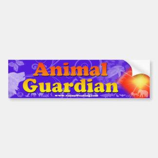 Animal guardian bumper sticker