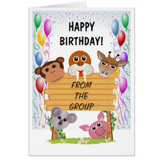 Animal Happy Birthday Greeting Card