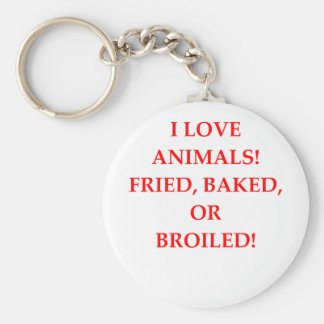 animal hater basic round button keychain