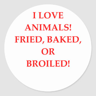 animal hater classic round sticker