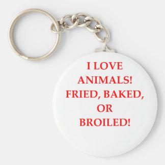 animal hater keychain