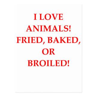 animal hater postcard