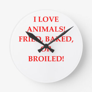 animal hater round clock