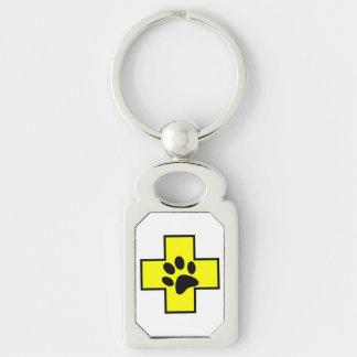 animal help cross veterinary symbol sign doctor pe keychain