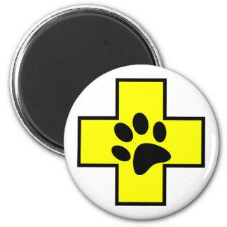 animal help cross veterinary symbol sign doctor pe magnet