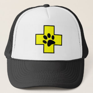 animal help cross veterinary symbol sign doctor pe trucker hat