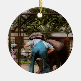 Animal - Hippo - Stupid human tricks 1910 Ceramic Ornament