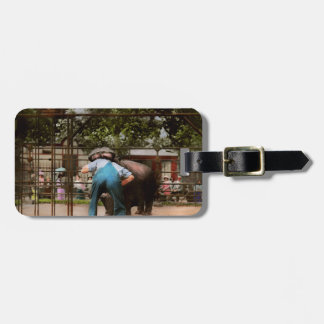 Animal - Hippo - Stupid human tricks 1910 Luggage Tag