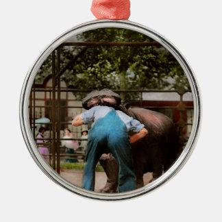 Animal - Hippo - Stupid human tricks 1910 Metal Ornament